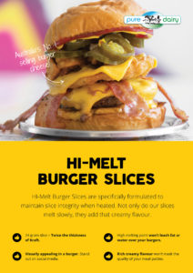 HI Melt Burger Cheese Slices on a Burger