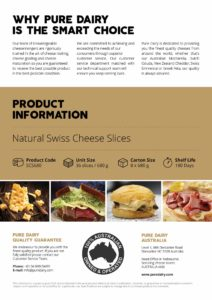 Natural Swiss Cheese Slices Information