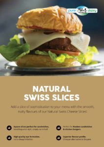 burger cheese in australia- natural swiss cheese slices