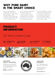 Cheese Curds Australia Flyer Australia